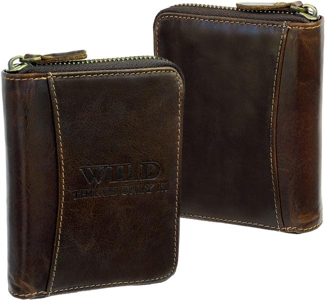 TOMMY HILFIGER Smooth Leather Zip Around Wallet Geldbörse Cognac Braun Neu