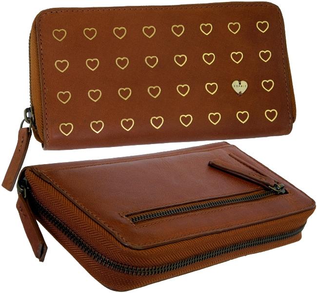 damen geldborsen esprit damen geldb  rse brieftasche herz herzl portemonnaie zip  brieftasche herz herzl portemonnaie