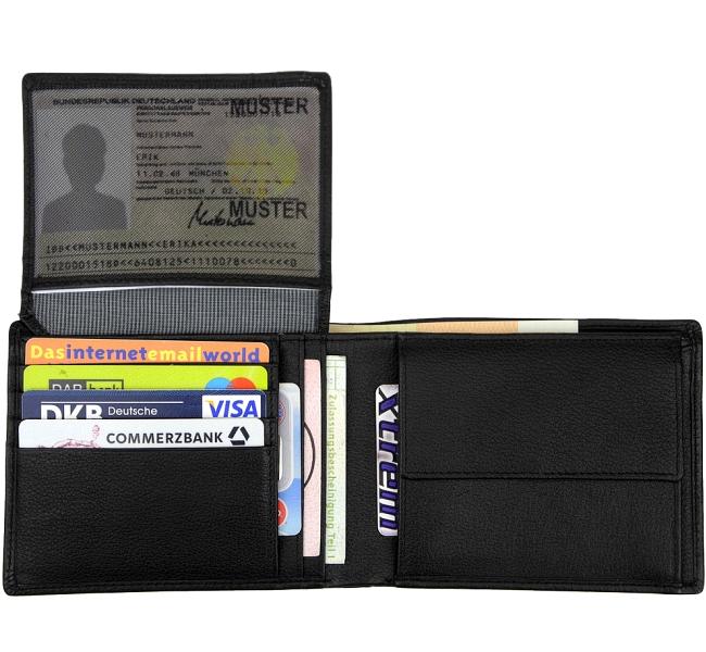 61f06cd29f4ff ESPRIT Herren Geldbörse - Mens Wallet Schwarz Portemonnaie ...