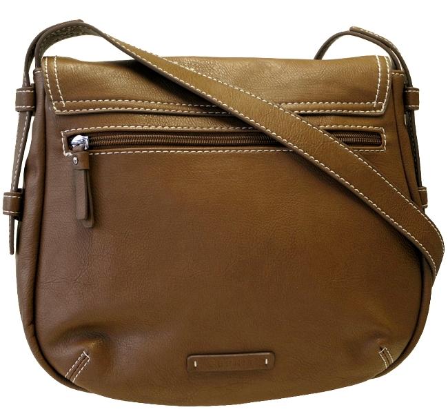 esprit damen crossover tasche braun schultertasche handtasche ladys bag neu. Black Bedroom Furniture Sets. Home Design Ideas