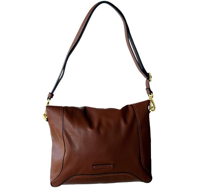 esprit damen tasche handtasche braun berschlag umschlag metall sen verstellbar ebay. Black Bedroom Furniture Sets. Home Design Ideas