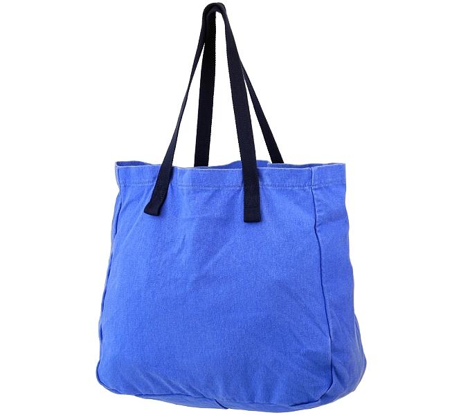 EDC Beutel Tasche Einkaufstasche Schultertasche Stoff Blau Schultasche 40x38x13