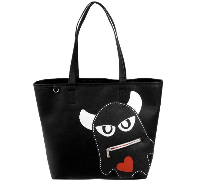 esprit damen tasche monster shopper handtasche schwarz tragetasche neu ebay. Black Bedroom Furniture Sets. Home Design Ideas