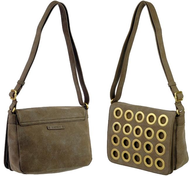 esprit design abendtasche damen tasche braun schultertasche handtasche ladys bag ebay. Black Bedroom Furniture Sets. Home Design Ideas