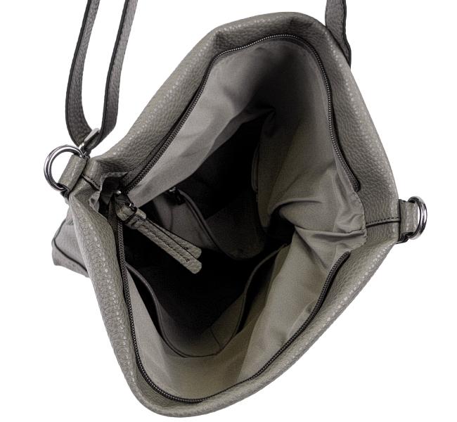 Details zu ESPRIT Damen Tasche Handtasche Schultertasche Umhängetasche Taupe lady bag grey