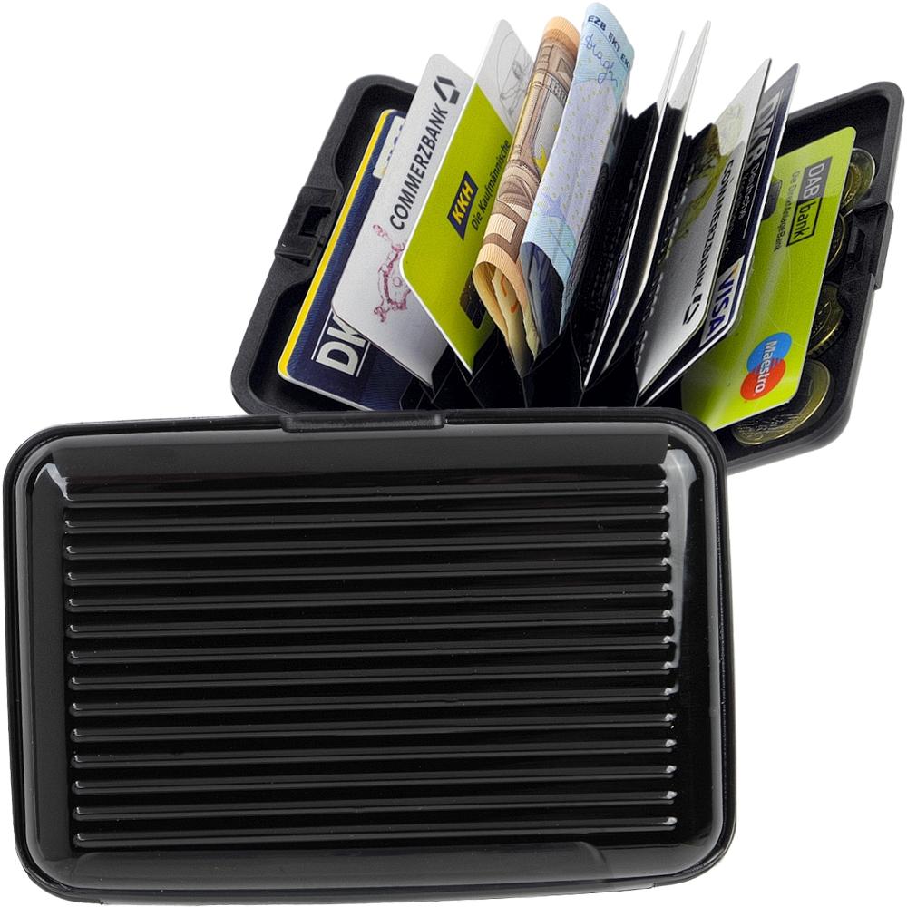Visitenkartenetui Kreditkartenetui Suitcase aus Aluminium mit Fächern