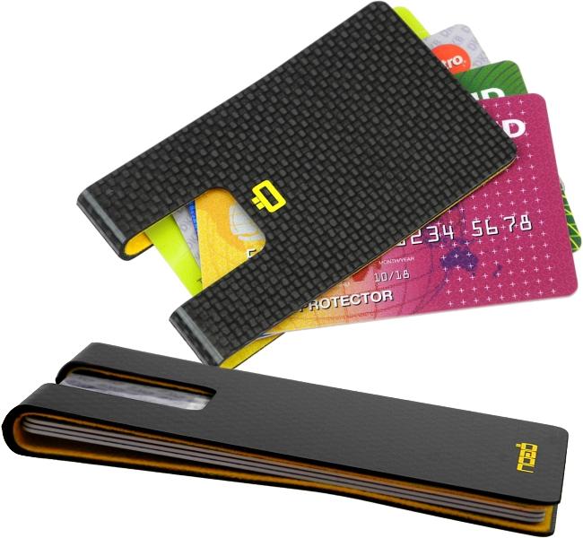 Ögon carte di credito ASTUCCIO EC-carte astuccio con clip astuccio denaro-parentesi CARD CASE RFID i3c