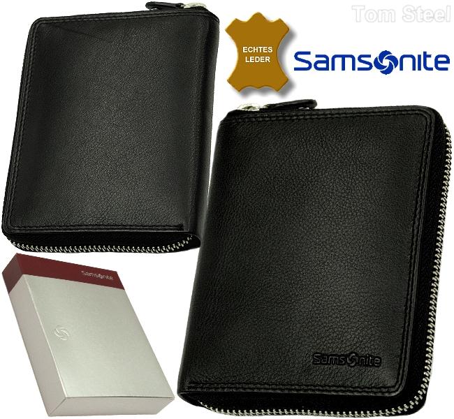 3019aaf4cf2a9 RV Börse Reißverschluss Portemonnaie Geldbörse Geldbeutel NEU SAMSONITE  Herren