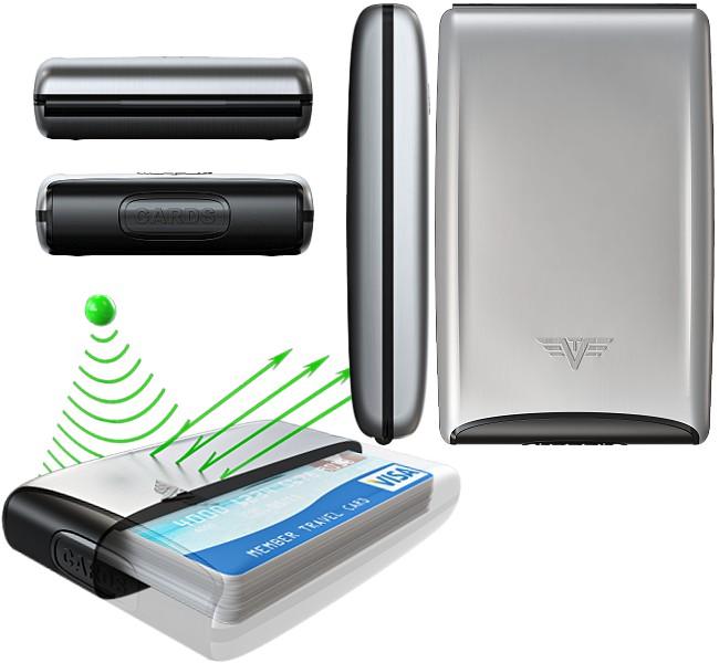tru virtu silk aluminium visitenkarten kreditkartenetui ec. Black Bedroom Furniture Sets. Home Design Ideas