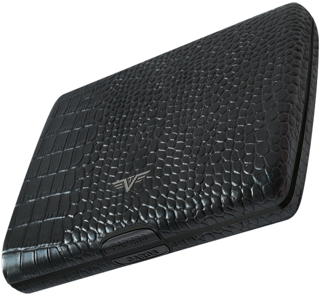 tru virtu leather aluminium briefcase wallet purse