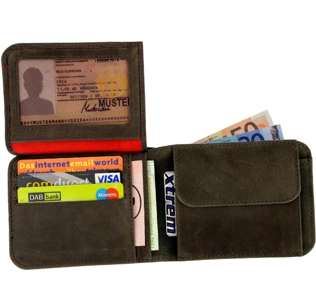 zwei herren geldb rse braun portemonnaie geldbeutel geldtasche brown wallet ebay. Black Bedroom Furniture Sets. Home Design Ideas